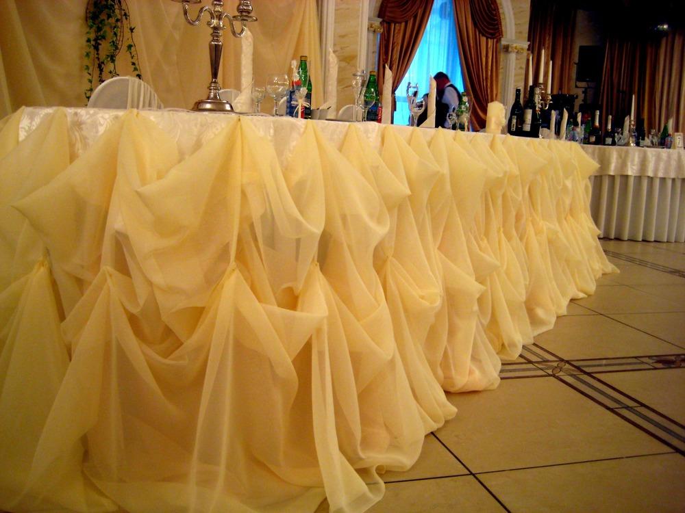Драпировка столов на свадьбу своими руками