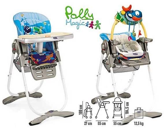 детский стульчик Chicco Polly Magic главный помощник молодых мам