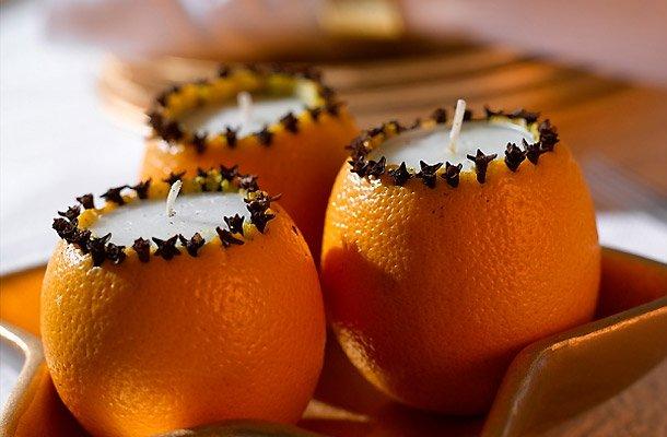 Свечи из апельсина своими руками фото