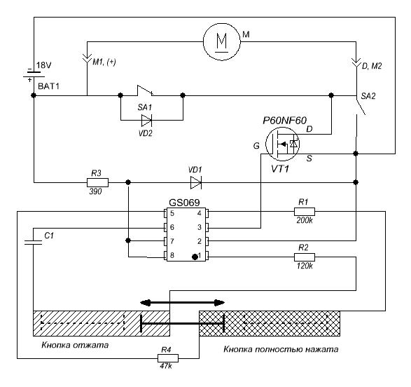 Модернизация зарядного устройства шуруповёрта ЗУБР 822