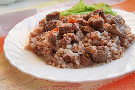 Гречка с говядиной рецепт с фото